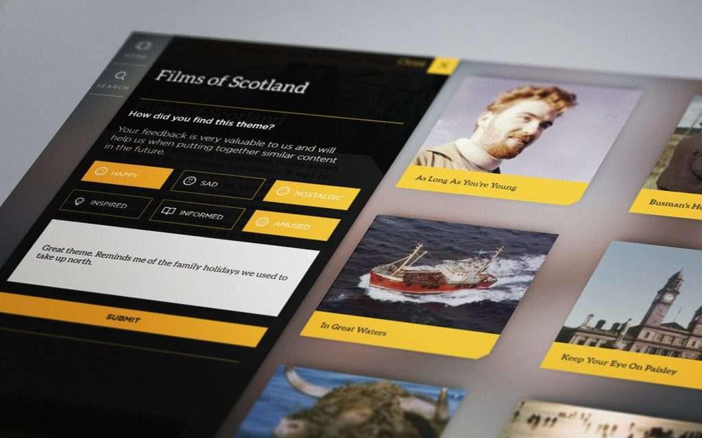 Interactive sales app on Films of Scotland