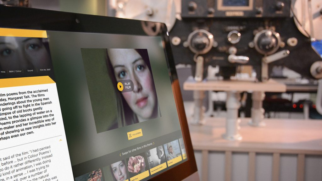 Example of interactive touchscreen software