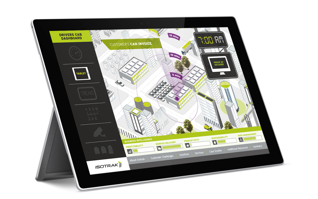 Isotrak interactive map presentation on iPad